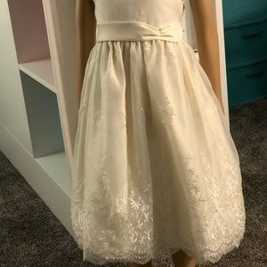 Cream Flower Sun Dress